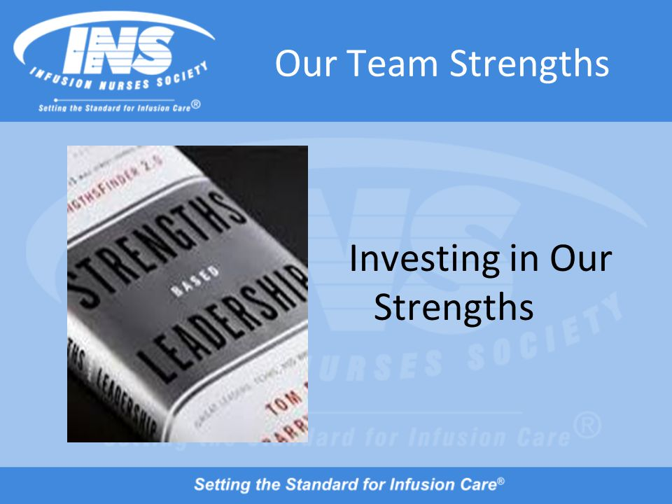 Our Team Strengths Investing in Our Strengths
