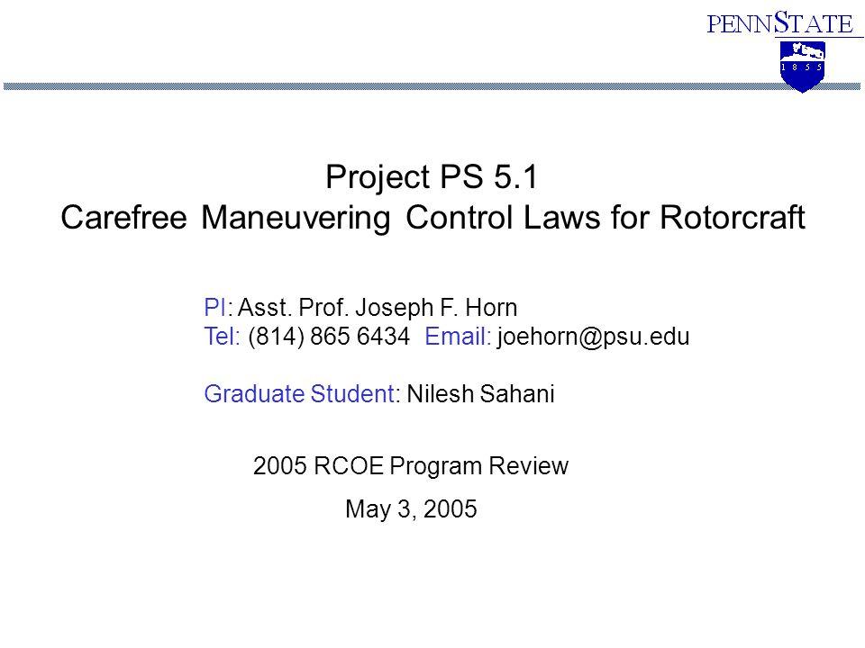 PI: Asst. Prof. Joseph F.