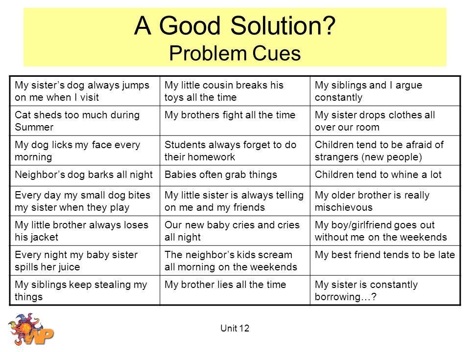 Unit 12 A Good Solution.
