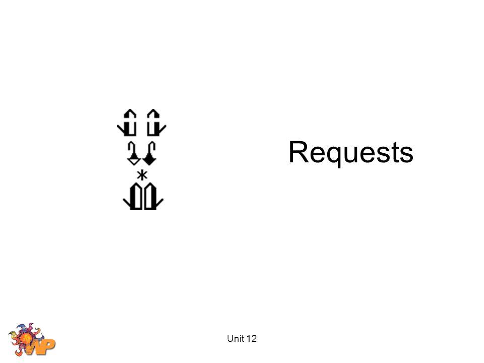 Unit 12 Requests