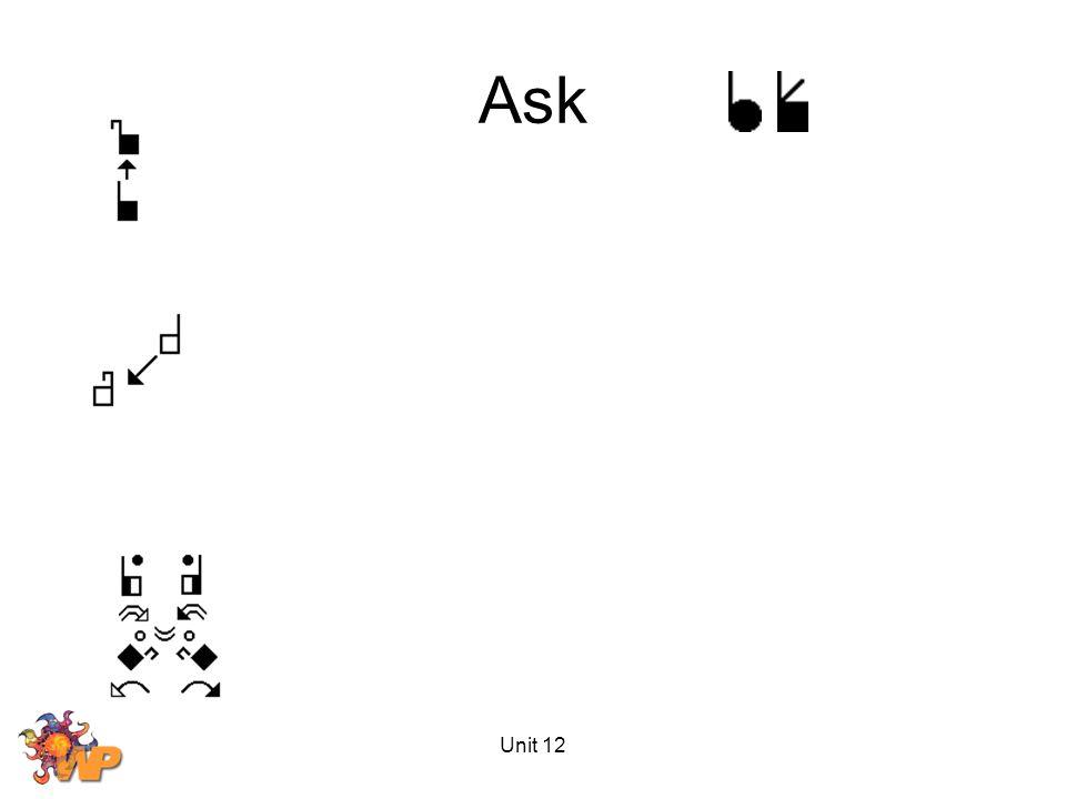 Unit 12 Ask