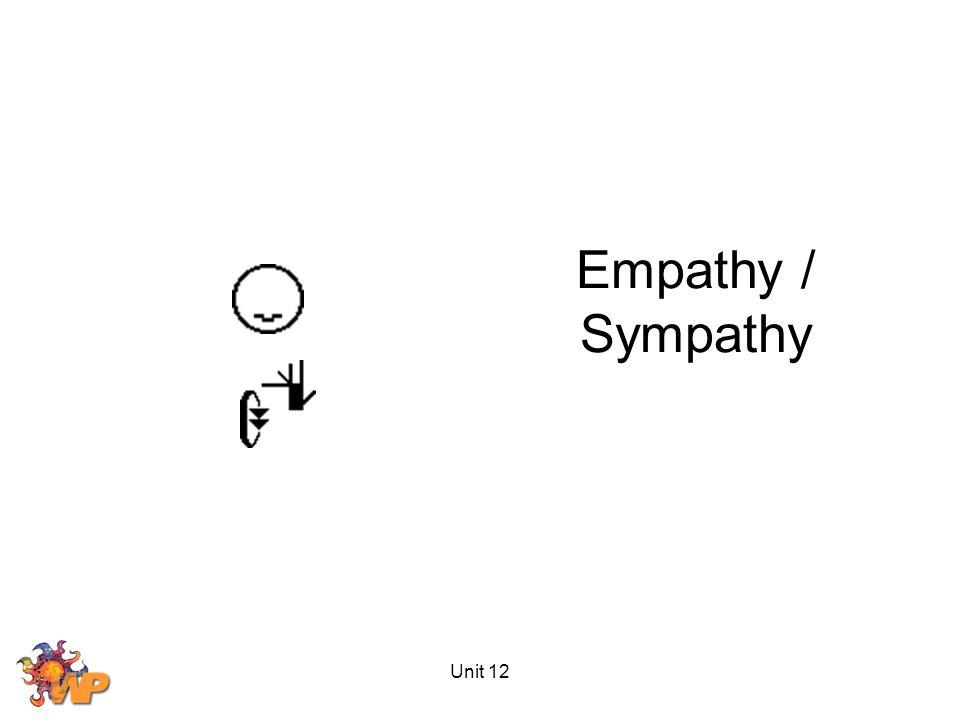Unit 12 Empathy / Sympathy