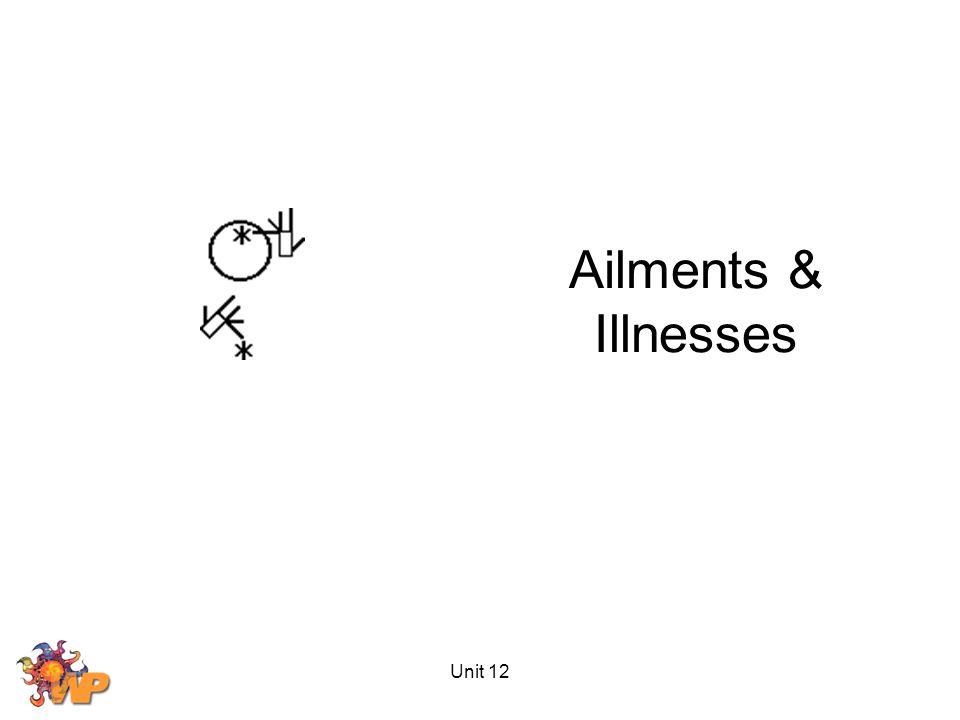 Unit 12 Ailments & Illnesses