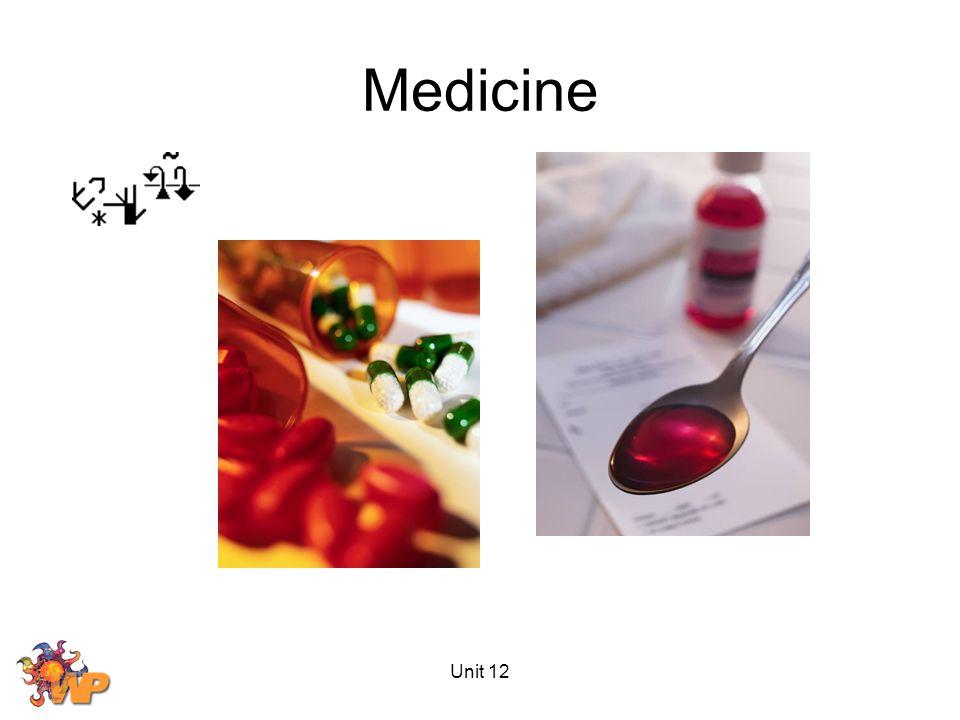 Unit 12 Medicine