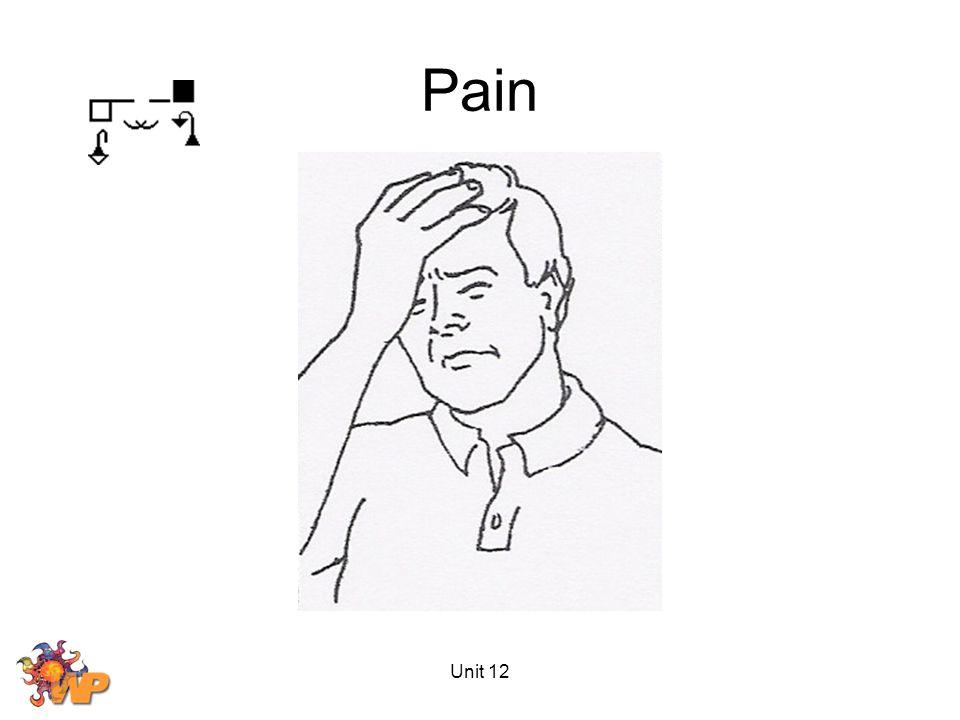Unit 12 Pain