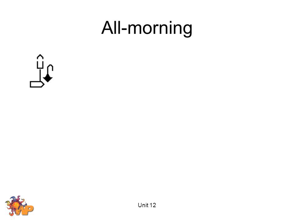 Unit 12 All-morning