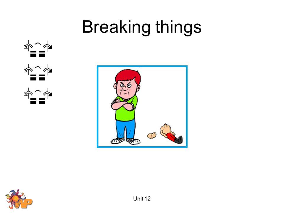 Unit 12 Breaking things