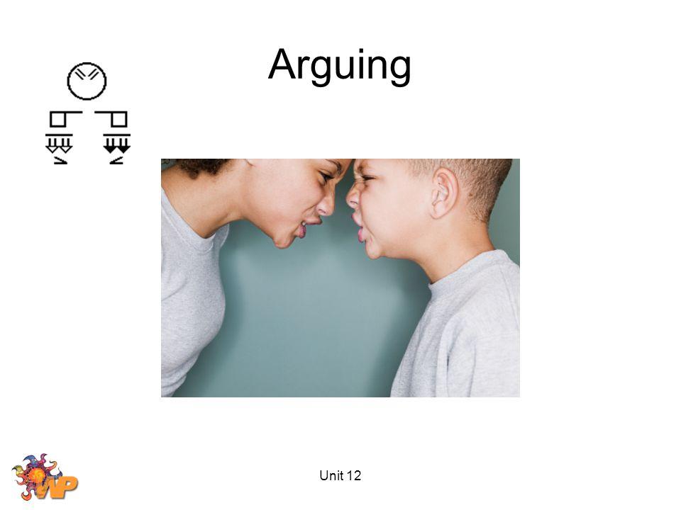 Unit 12 Arguing