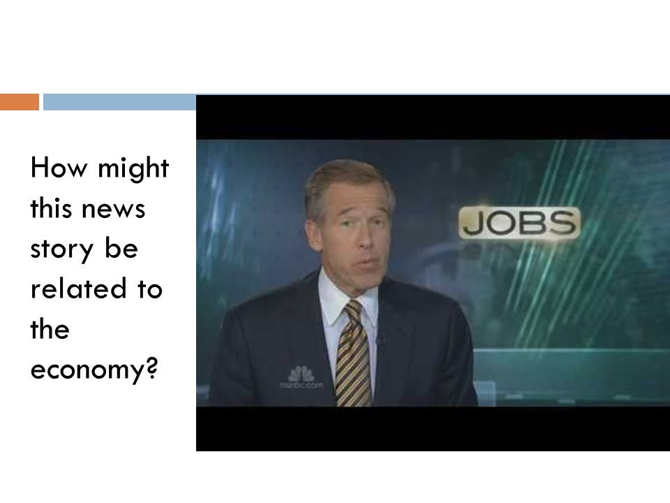How might this news story be related to the economy