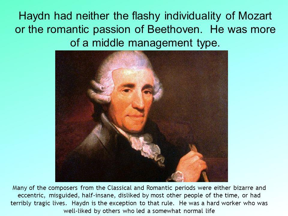 Franz Joseph Haydn Born: 1732 in Austria