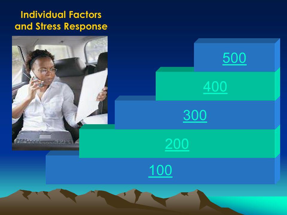 100 200 300 400 500 Individual Factors and Stress Response