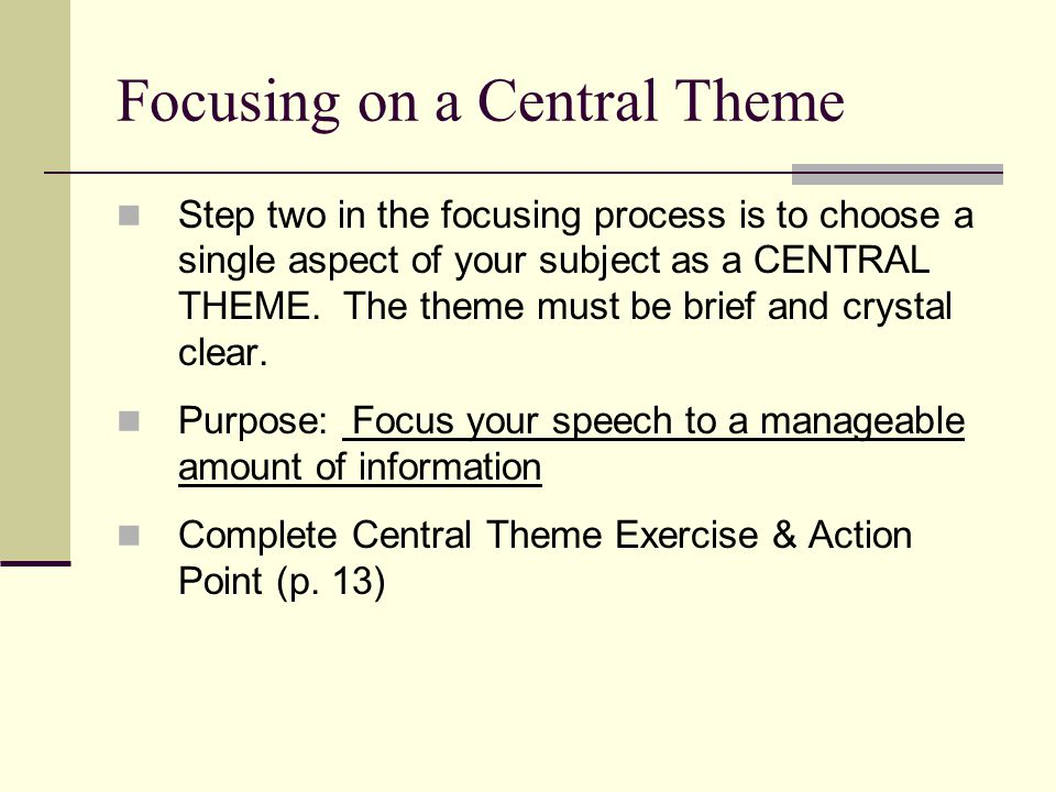 Determining the Objective Step 4 – Choose a key word: Definition: The key word is always a plural noun.