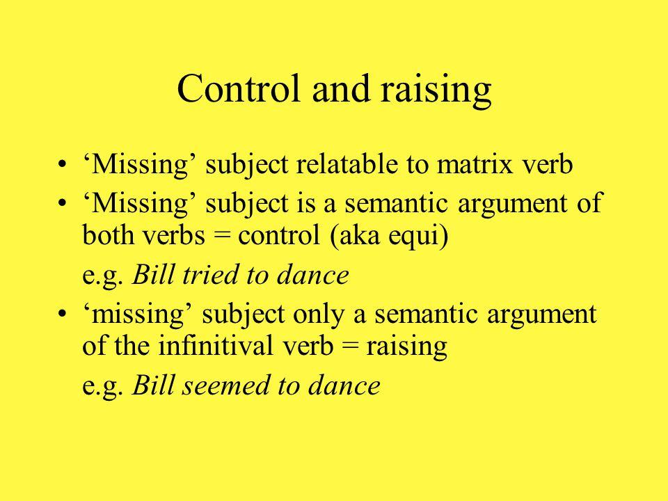 English non-pro-drop English: Bill singsvs*sings sings