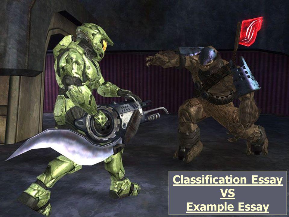 Classification Essay VS Example Essay