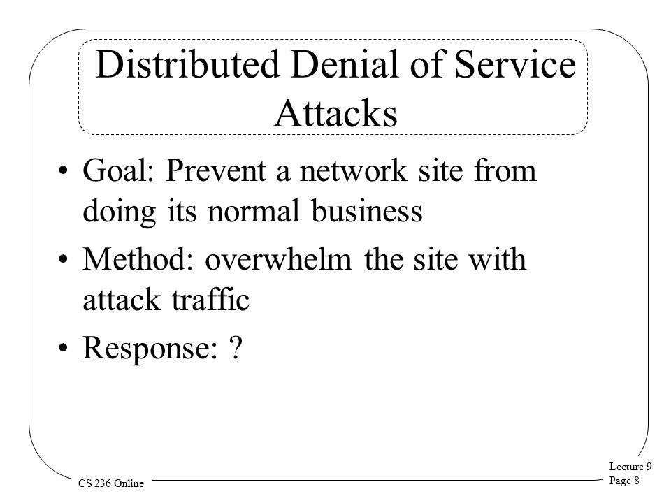 Lecture 9 Page 9 CS 236 Online The Problem
