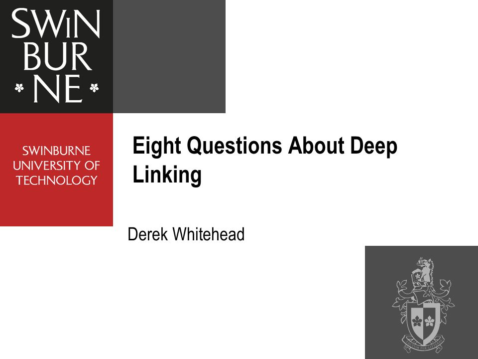 Derek Whitehead Eight Questions About Deep Linking