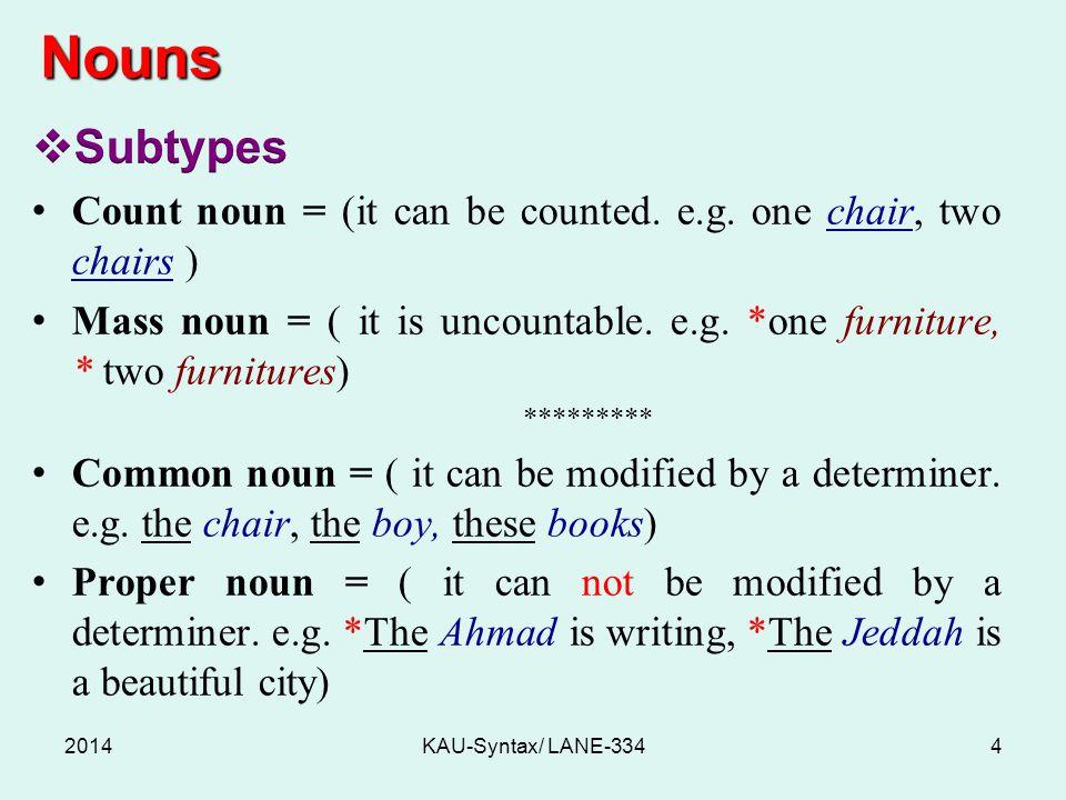 Nouns 2014KAU-Syntax/ LANE-3344