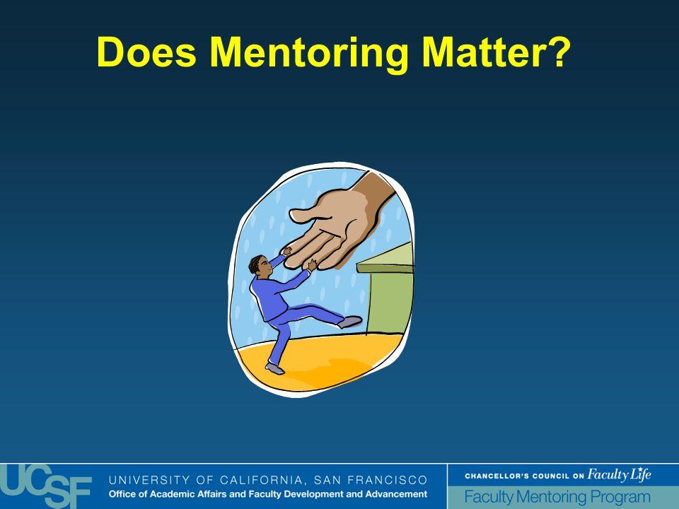 Does Mentoring Matter