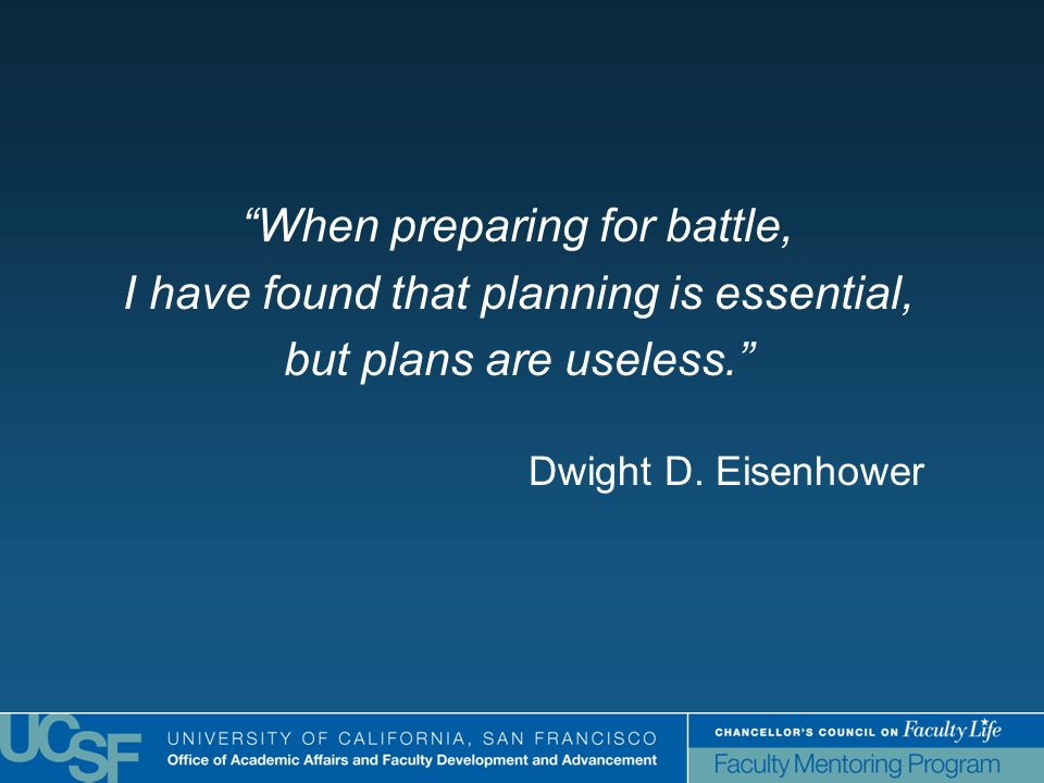 When preparing for battle, I have found that planning is essential, but plans are useless. Dwight D.