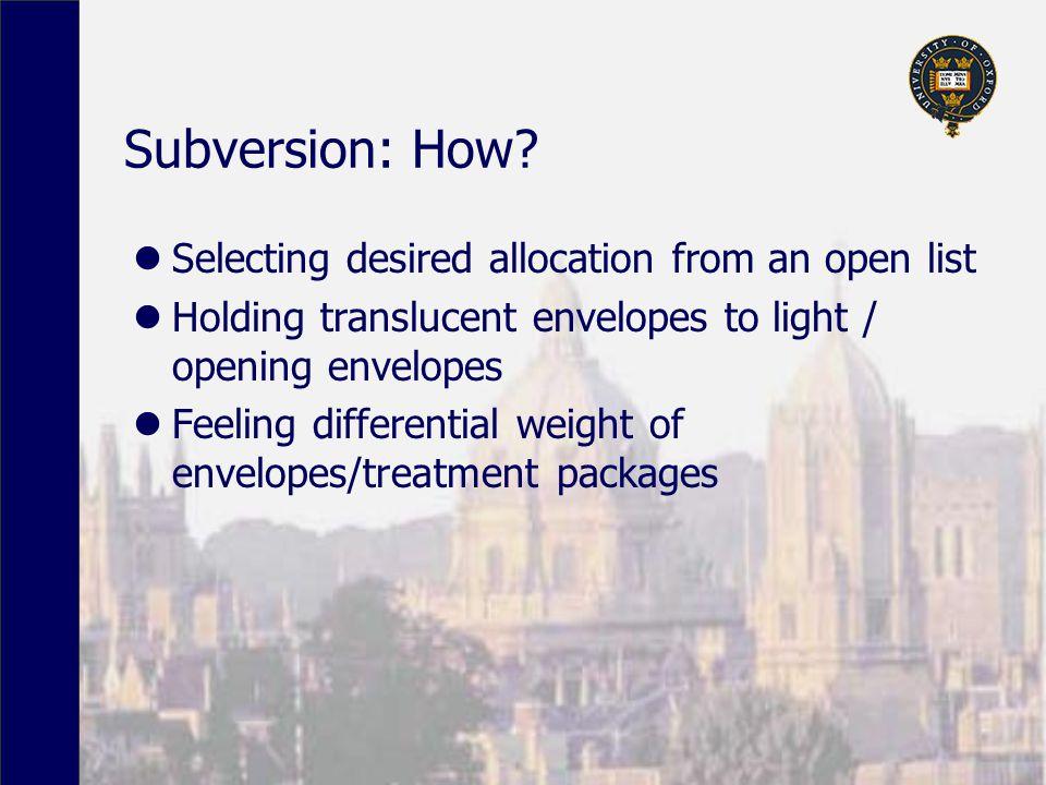 Subversion: How.