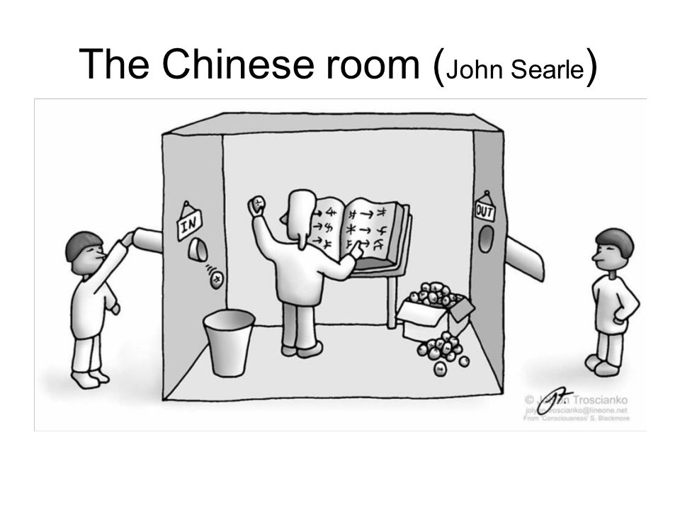 The Chinese room ( John Searle )