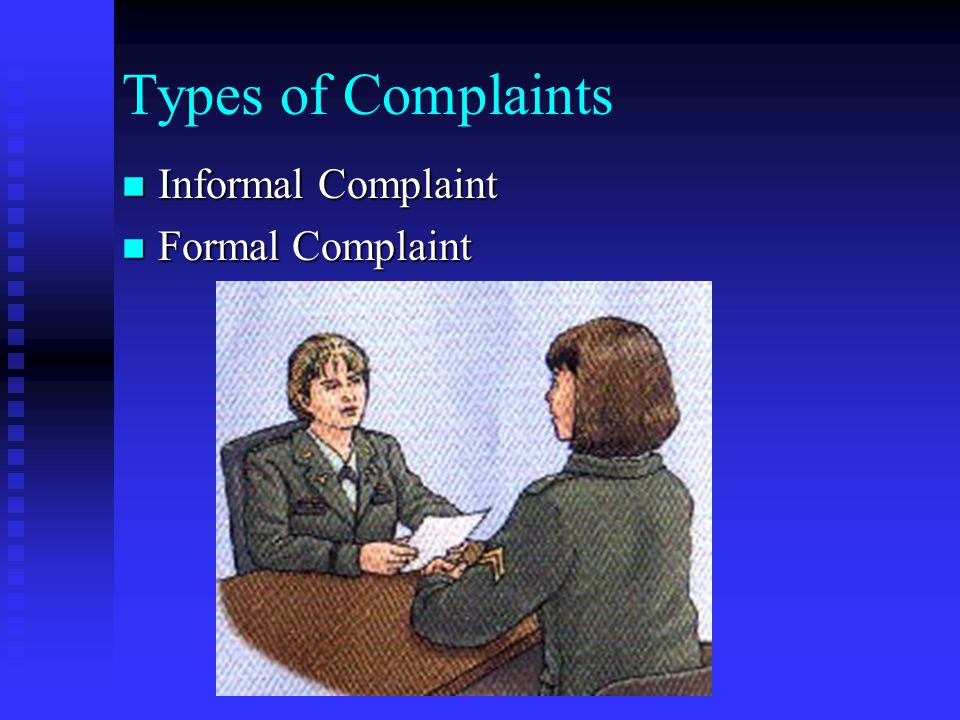 Summary n n Describe the Army's EO Complaint Process.