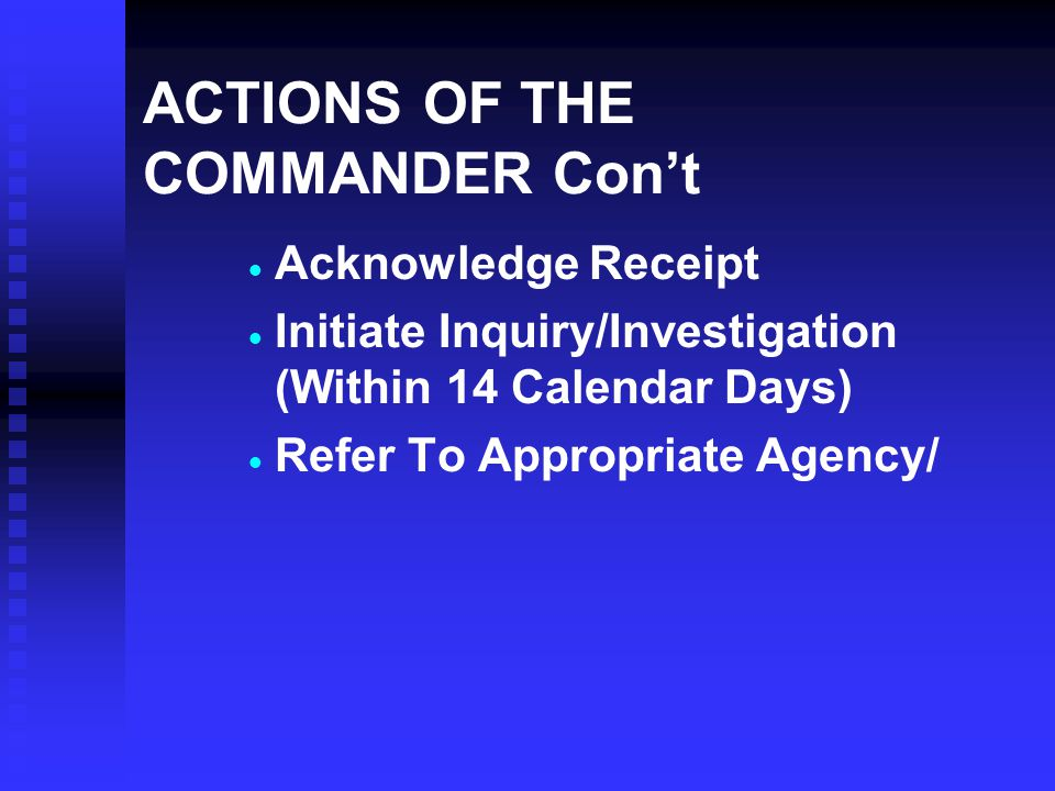 APPEALS PROCESS   Submit On Separate Paper Within 7 Calendar Days   Specify Issues You Disagree With   Submit To Immediate Or Next Higher Commander   May Request Appointment With Appeal Authority