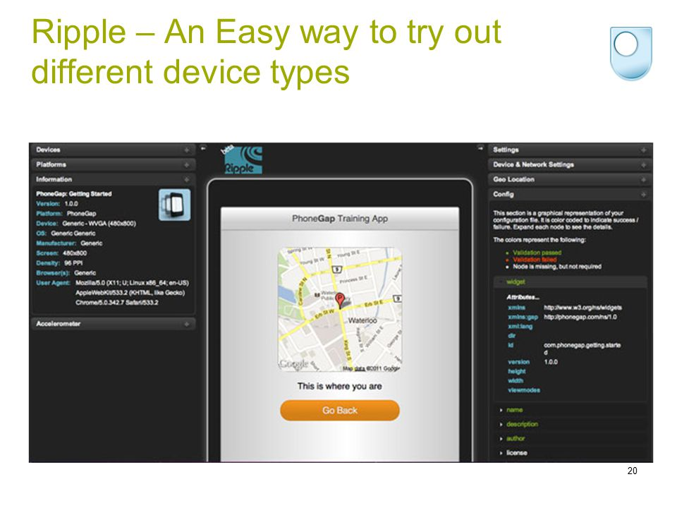 Ripple – An Easy way to try out different device types 20