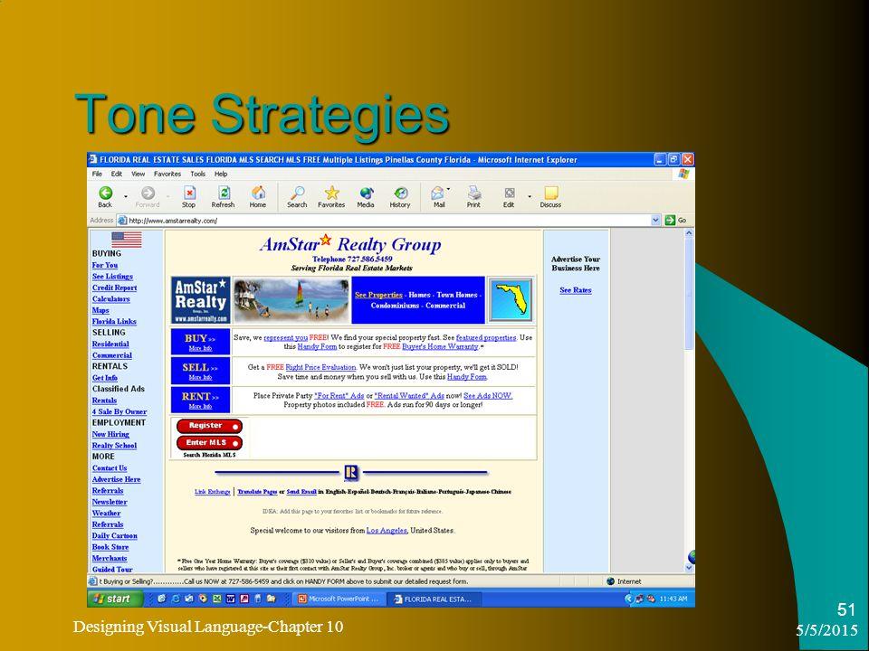 5/5/2015 Designing Visual Language-Chapter 10 51 Tone Strategies