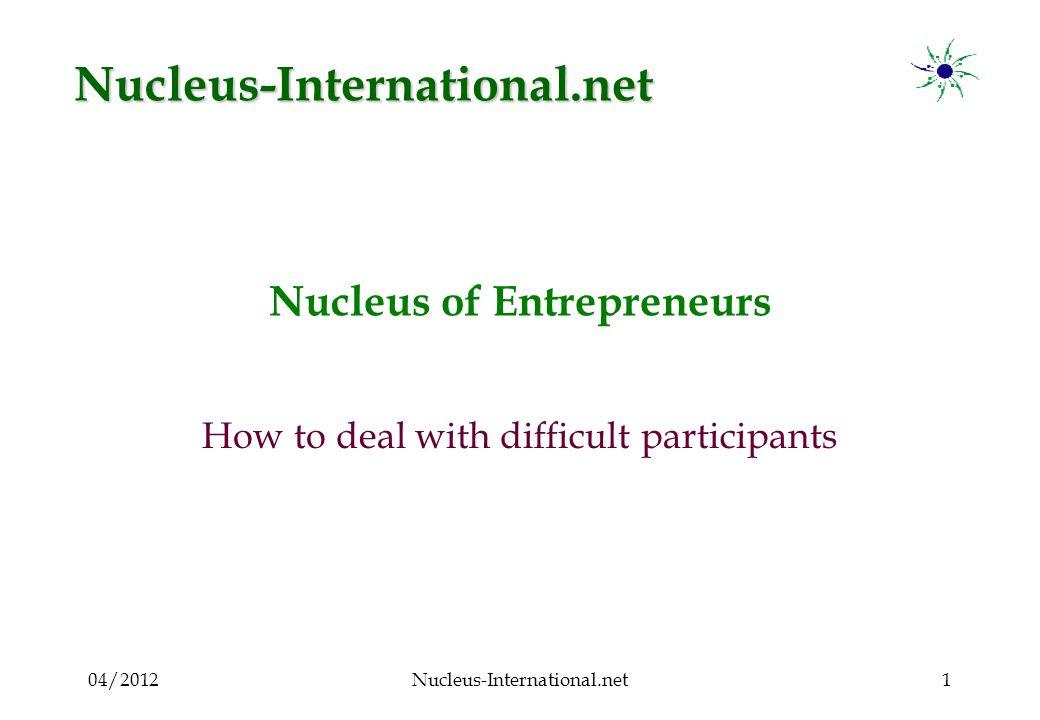 04/2012Nucleus-International.net12 Aggressive participant : What to do .