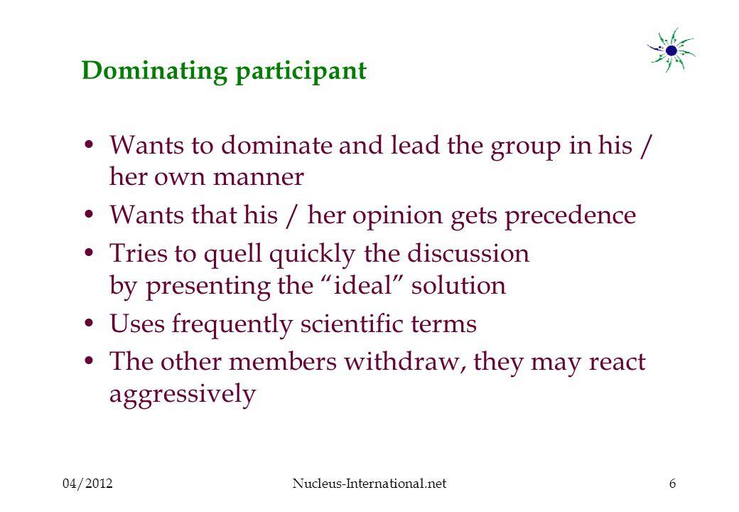 04/2012Nucleus-International.net17 Clown participant : What to do .