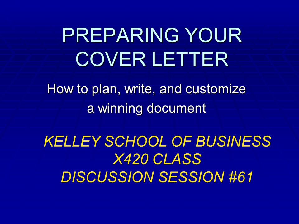 COVER LETTERS  What experience are you offering. When do you need one.