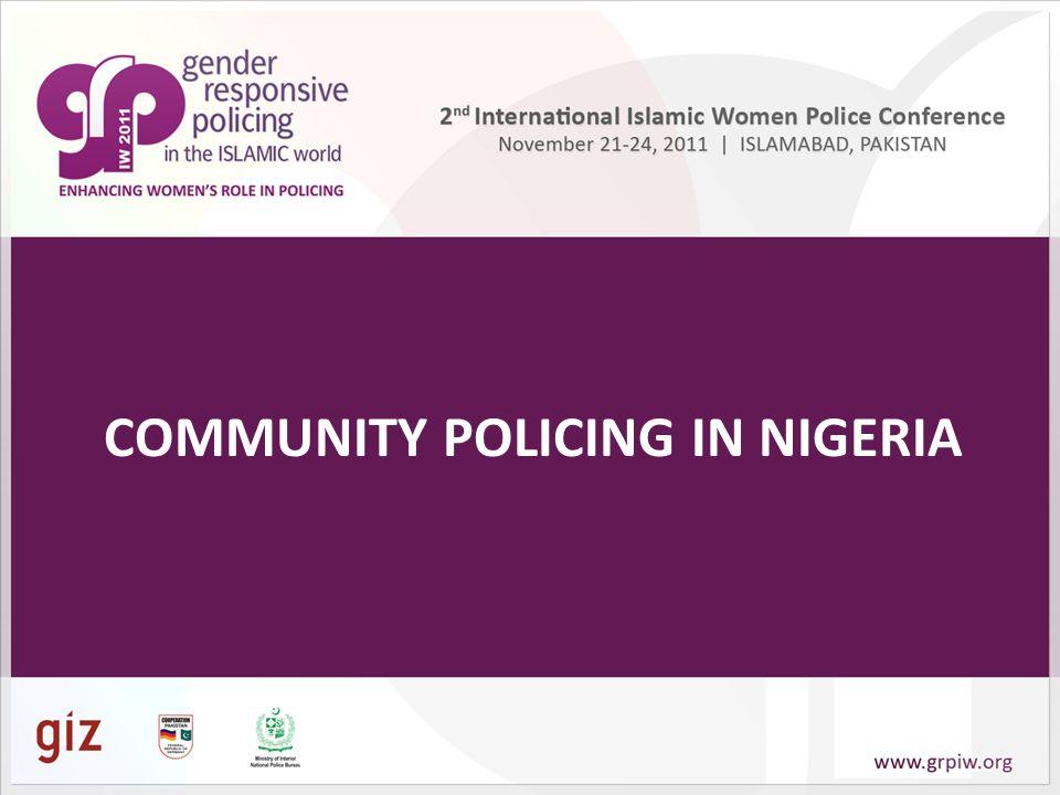 COMMUNITY POLICING IN NIGERIA