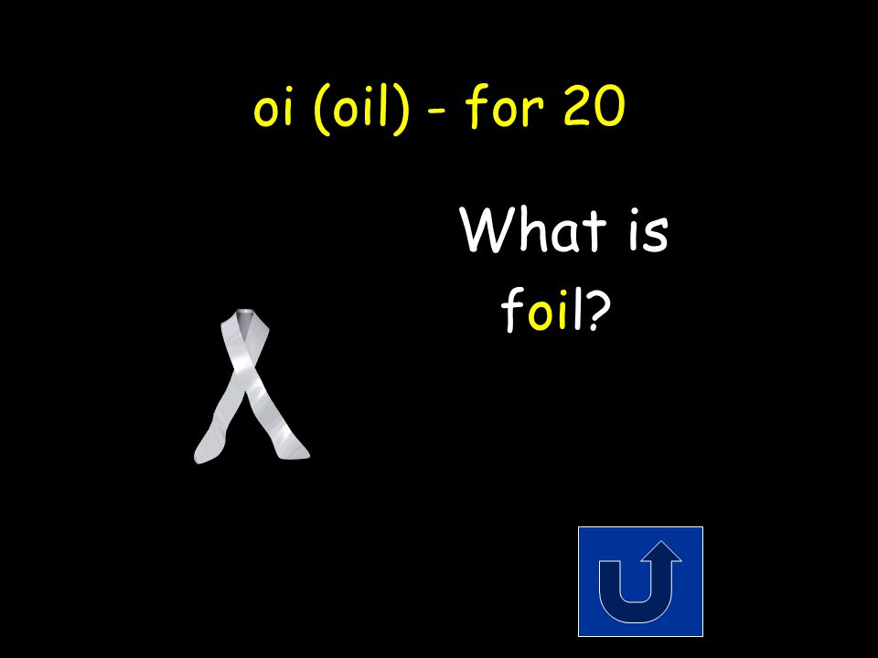 oi (oil) - for 20 A type of metal that comes on a roll and you wrap around food.