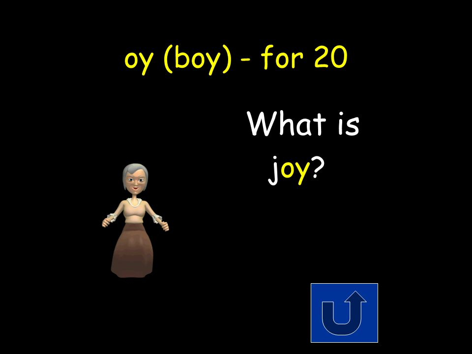 oy (boy) - for 20 Another word for happiness.