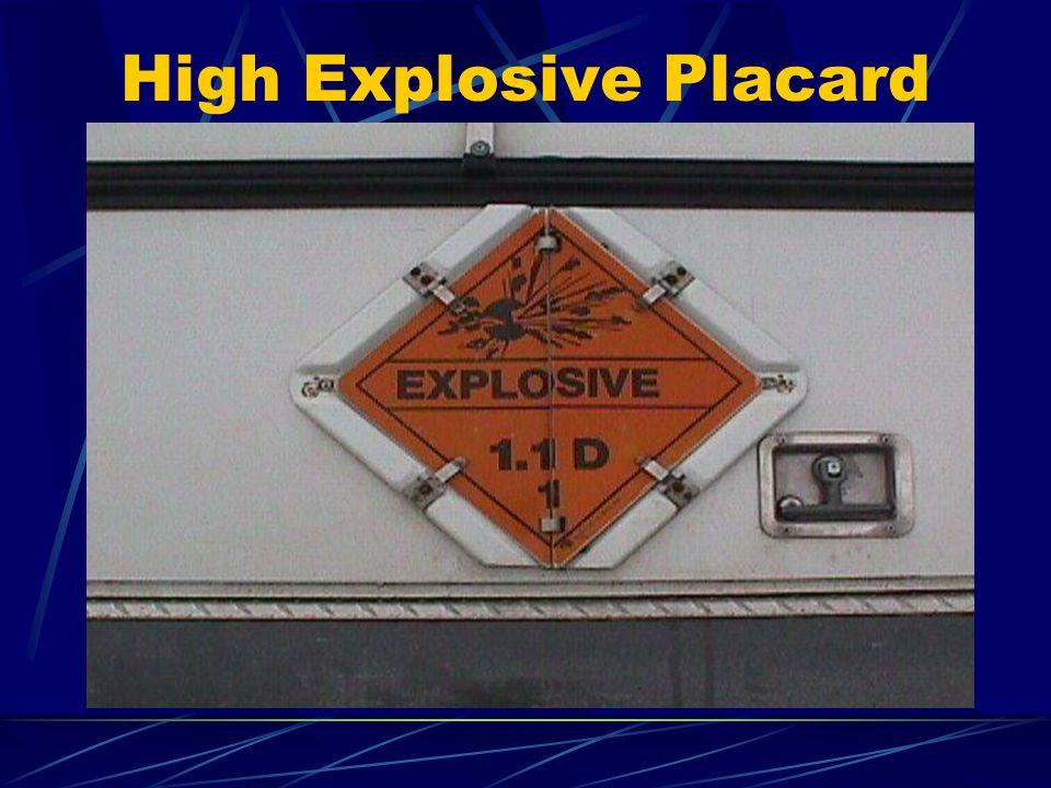 High Explosive Placard