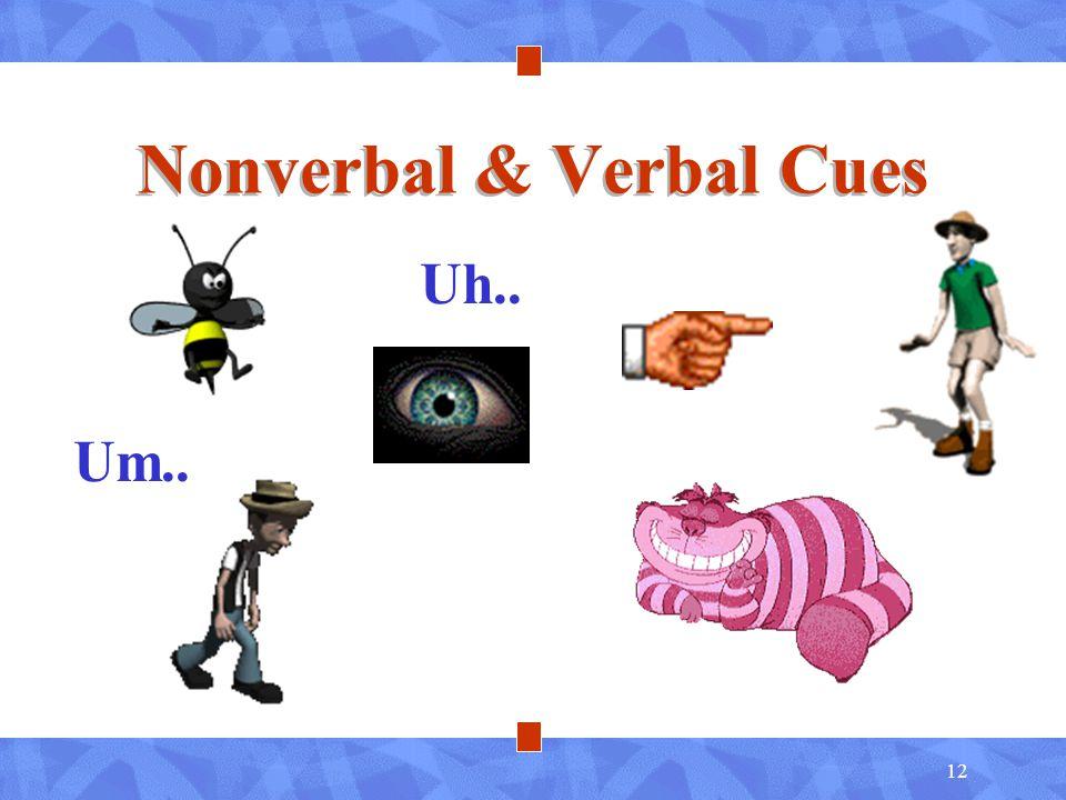 12 Nonverbal & Verbal Cues Uh.. Um..