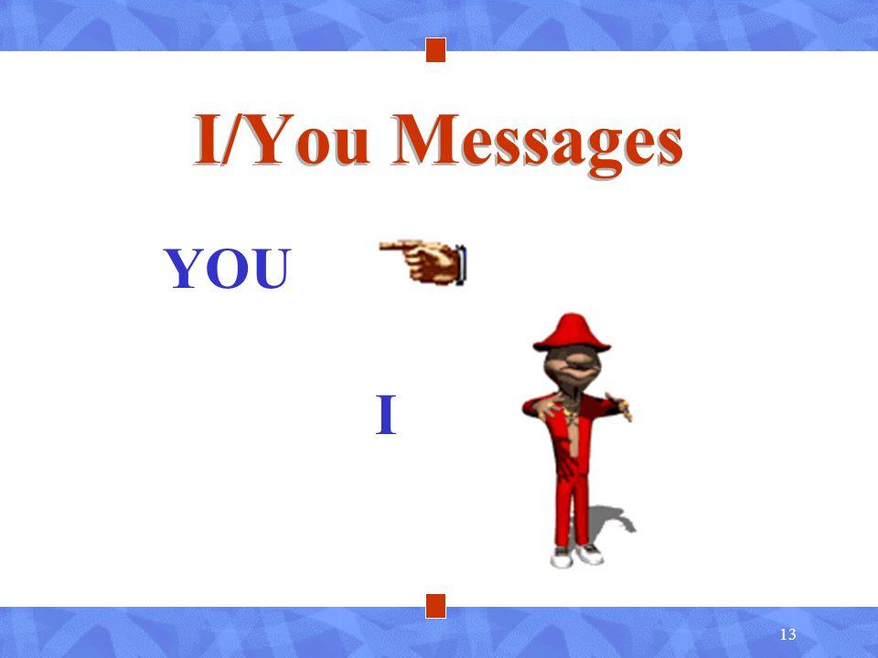 13 I/You Messages YOU I