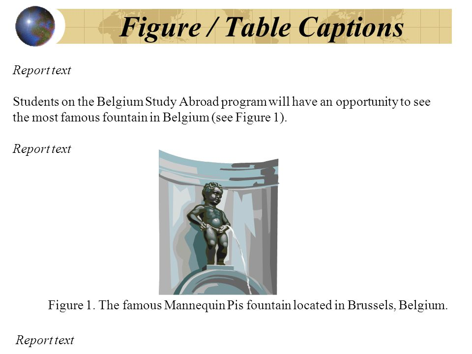 Figure 1. The famous Mannequin Pis fountain located in Brussels, Belgium.