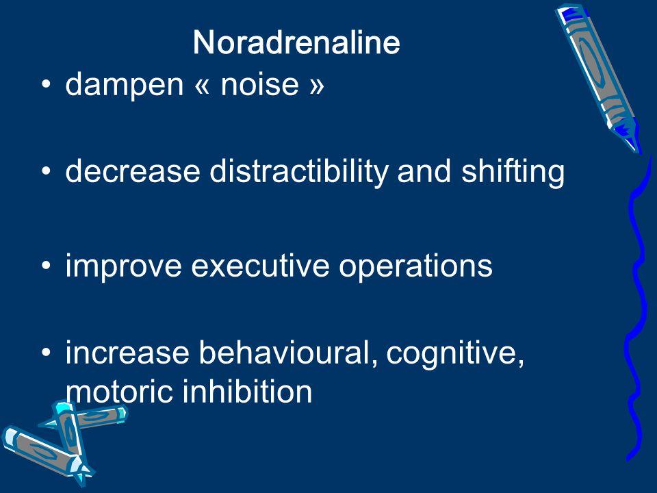 Dopamine - enhances signals - improves:.attention,.