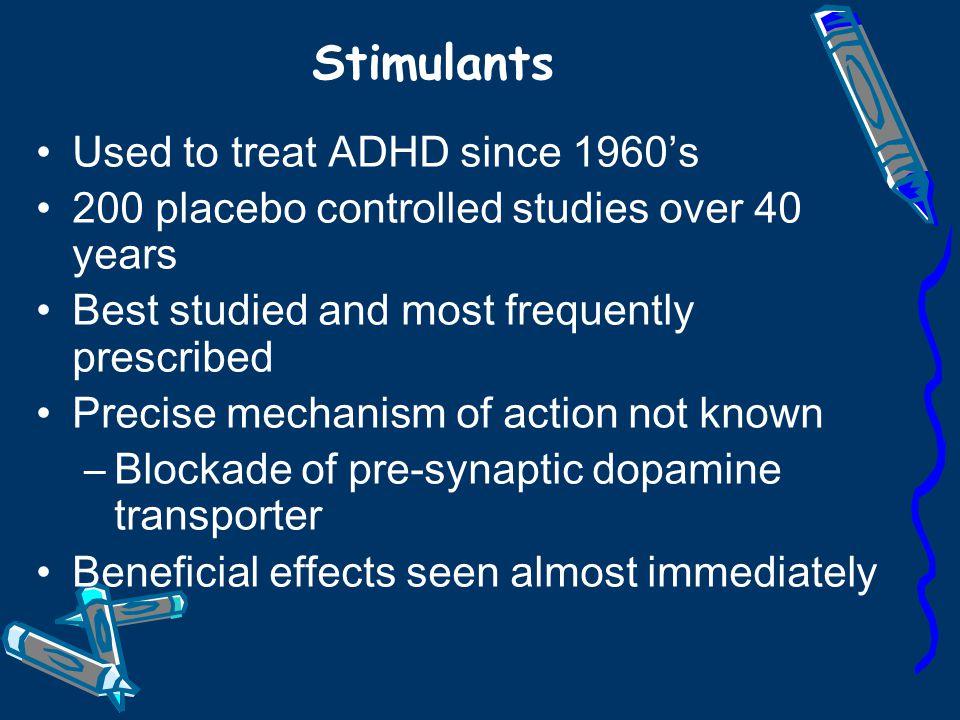 MEDICATIONS FOR ADHD Tricyclic Antidepressants –Desipramine ;Imipramine (Tofranil) Other Antidepressants –Bupropion (Zyban); Fluoxetine (Prozac)