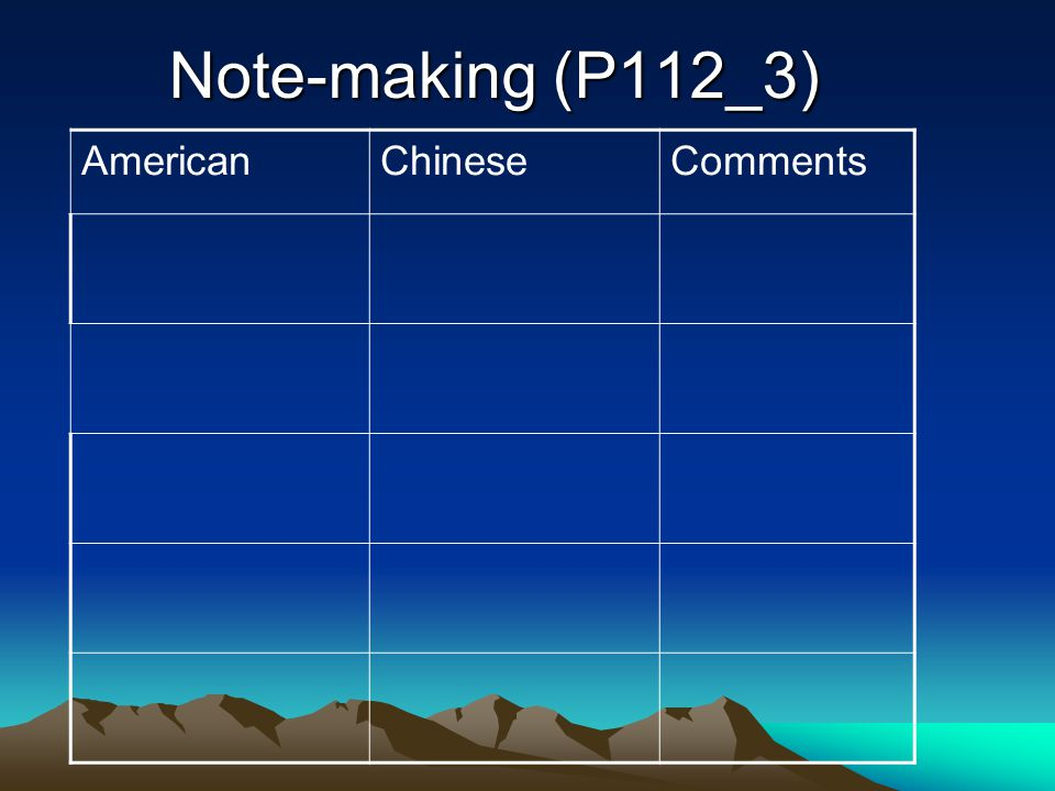 AmericanChineseComments Note-making (P112_3)