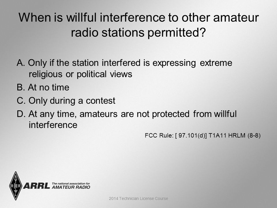 A. Only if the station interfered is expressing extreme religious or political views B.