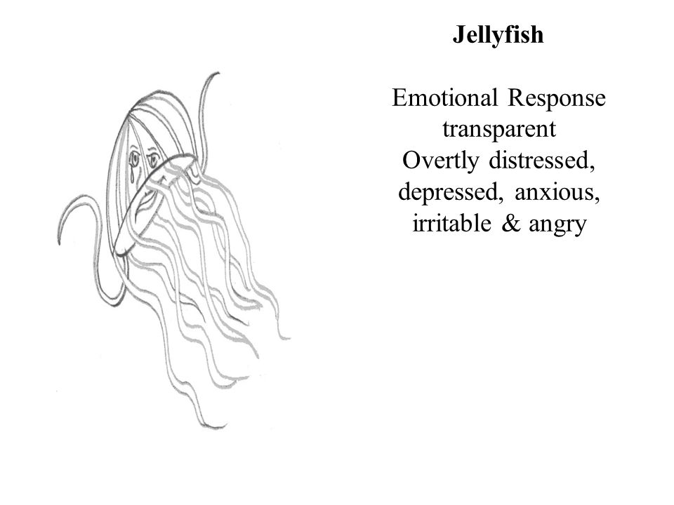 Jellyfish Emotional Response transparent Overtly distressed, depressed, anxious, irritable & angry