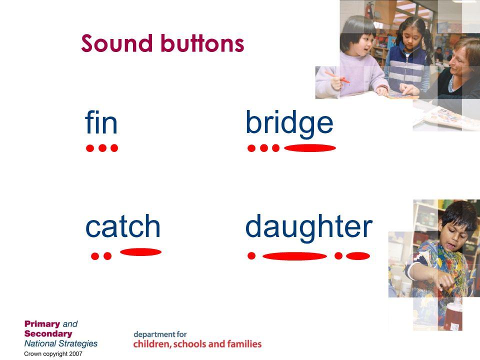 finbridge catchdaughter Sound buttons