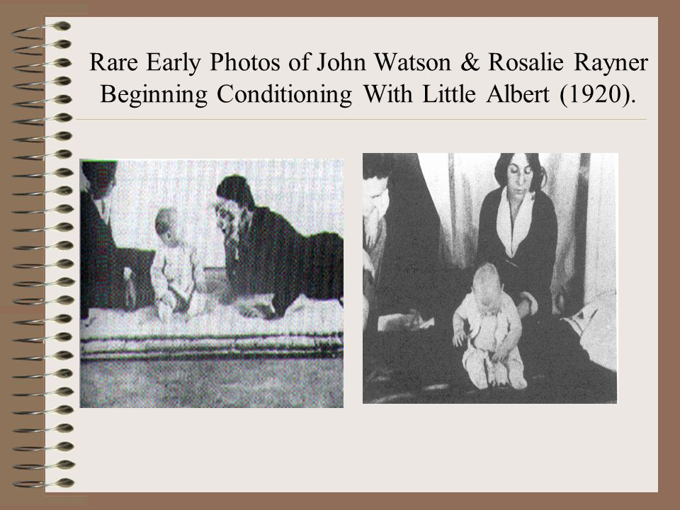Rare Early Photos of John Watson & Rosalie Rayner Beginning Conditioning With Little Albert (1920).