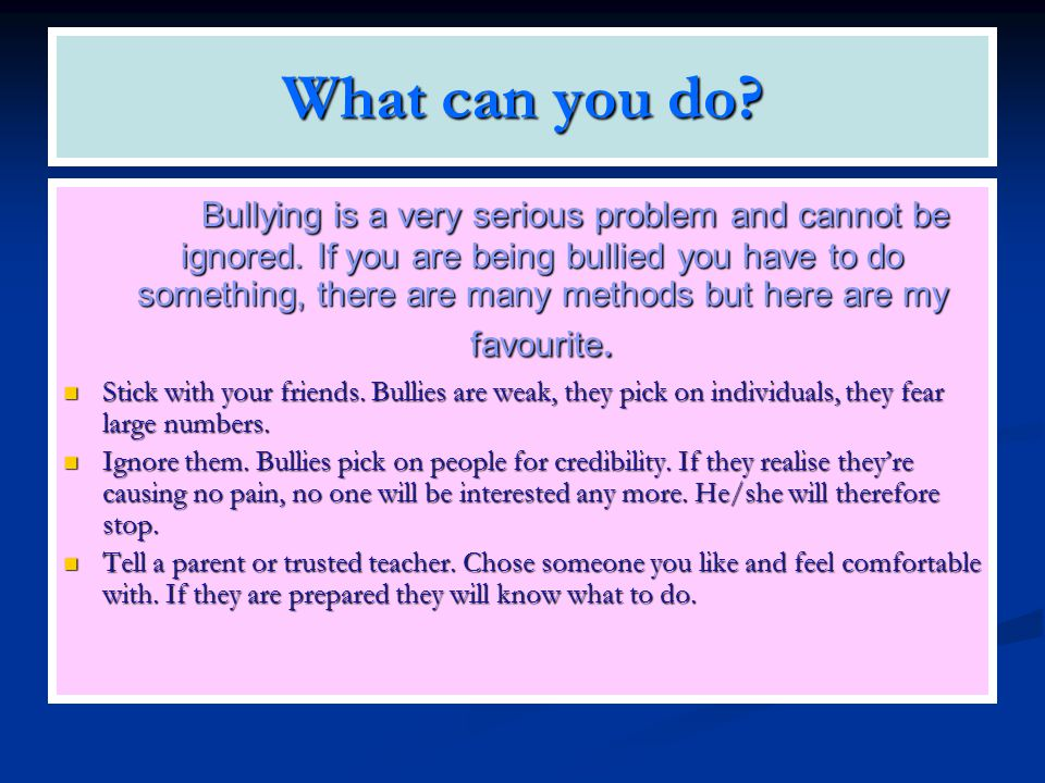 Agony Aunt If you are being bullied, talk to someone who can help you.