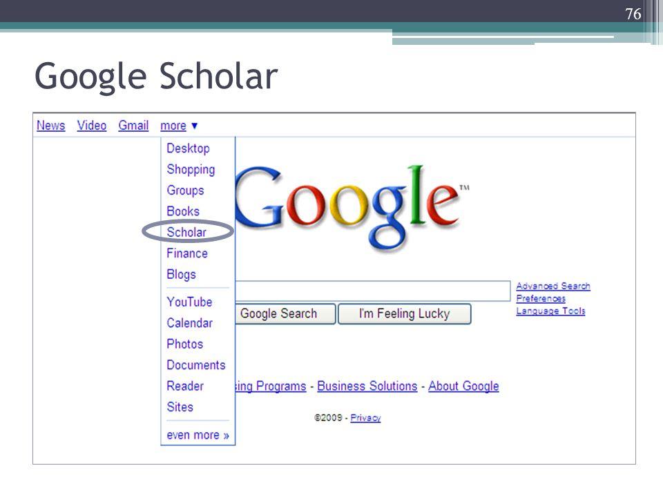 76 Google Scholar