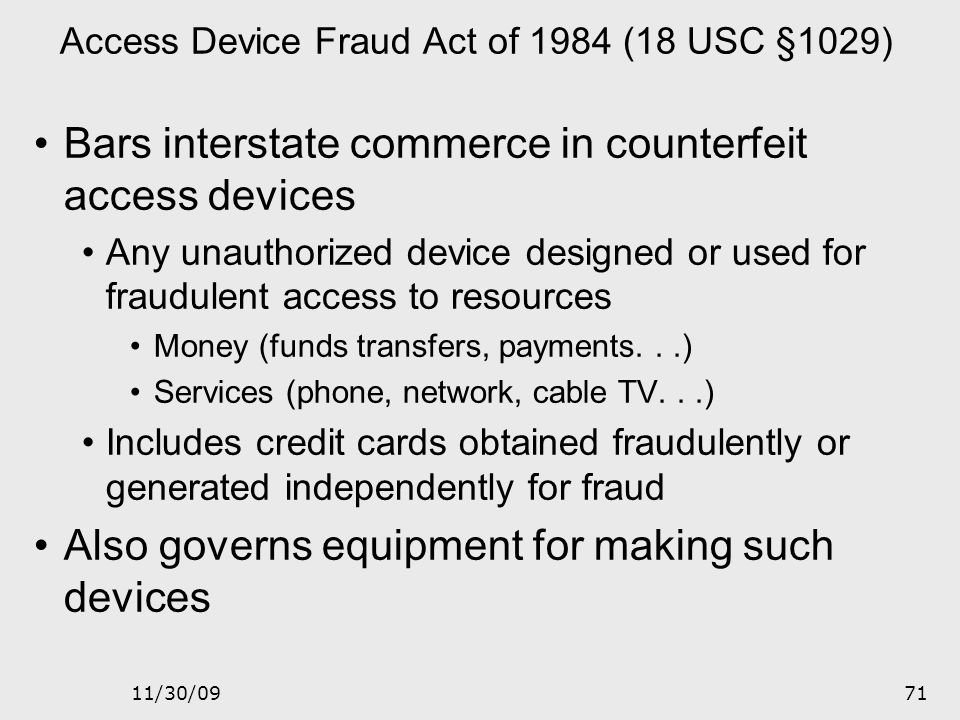 11/30/0970 Sarbanes – Oxley Act The law requires: The relevance for us is with reference to ethical aspects Establishment of a public company accounti