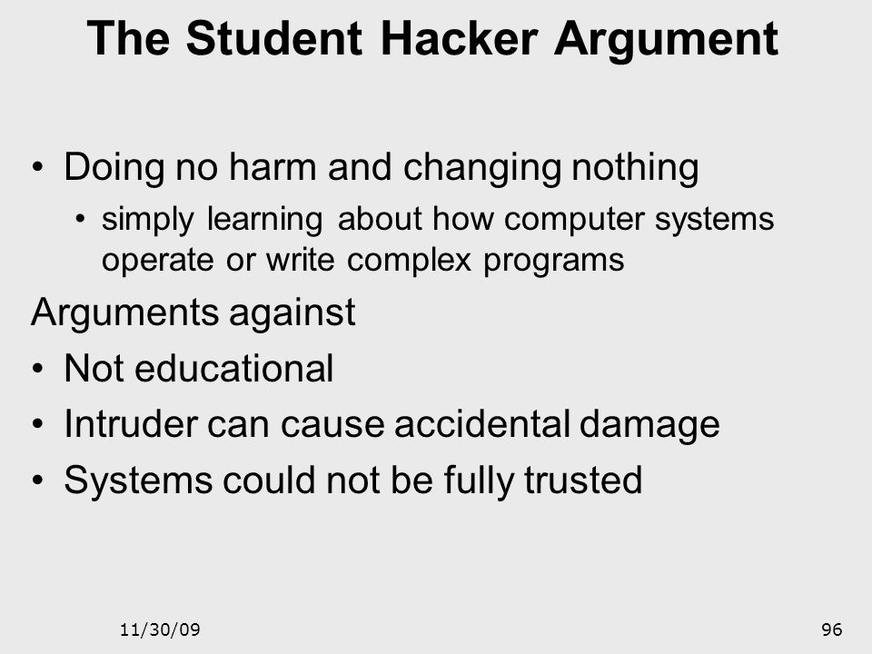 11/30/0995 The Idle System Argument Systems not in service to provide a general- purpose user environment Used in commerce, medicine, public safety, r